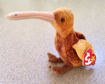 Vintage 1998 ty Beak the Kiwi Bird Beanie Baby