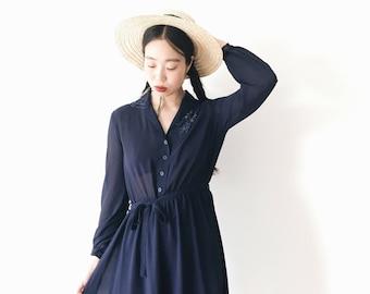 Azuela flower dress, Japan, vintage, xs - small