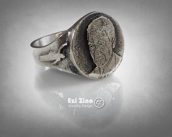 Ezi Zino ring Nelson Rolihlahla Mandela President of South Africa SILVER 925