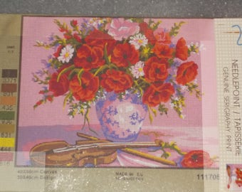 Vase of Flowers Needlepoint Canvas 1117050