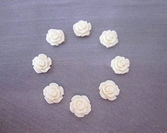 Cream Rose -- Cream Cabochons -- Cream Rose Supply -- DIY Cream Crafts -- Cream Flower Pieces -- Mini Cream Flower -- Wholesale Crafts