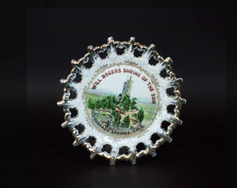 vintage will rogers shrine of the sun plate colorado springs colorado made in japan