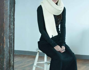 50% SALE NEW Knit Scarf / Long Scarf / Unisex Scarf / Women's Accessories / Cotton Scarf / marcellamoda k - MA796