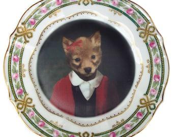 "Fiona Fox, School Portrait Plate 8.8"""