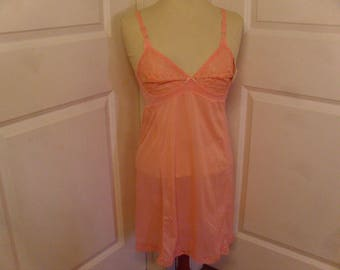 Vintage 1960's  Coral Colored Perma-Lift Slip  Deadstock