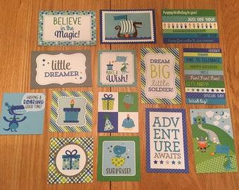 Doodlebug DRAGON TALES project life cards - set of 14