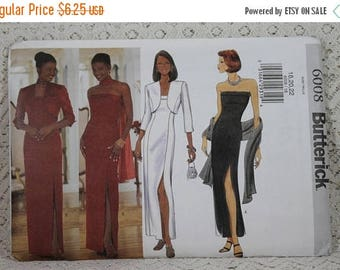 ON SALE Butterick 6008, Misses' Evening Jacket, Dress and Scarf Sewing Pattern, Misses' Patterns, Prom Dress Pattern, Misses' Size 18, 20, 2