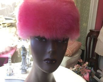 Beautiful  Fur Pillbox Hat