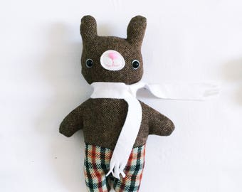 Mister Bunnypants in Brown Wool - READY TO SHIP