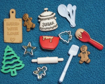 Christmas Cookies Buttons