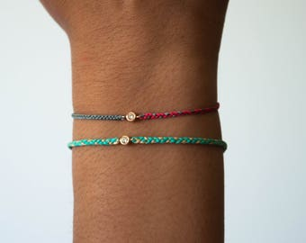 Diamond friendship bracelet - braided frienship bracelet
