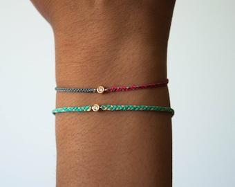 Diamond friendship bracelet - braided friendship bracelet