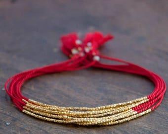 SALE Delicate Silk Bracelet, minimalistic bracelet, dainty wish bracelet, friendship bracelet.