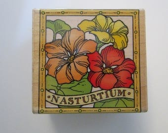 vintage rubber stamp - NASTURTIUM - Hero Arts 1996