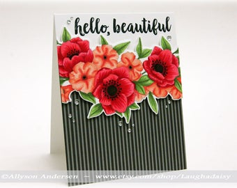 Hello Beautiful Greeting Card - MISC 008