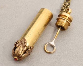 Bullet Necklace Perfume Vial Bullet Necklace Bubble Wand Bullet Necklace Novelty Bullet Necklace