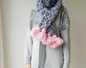 Knit Scarf Chunky Oversized