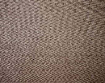 Brown Herringbone Fabric