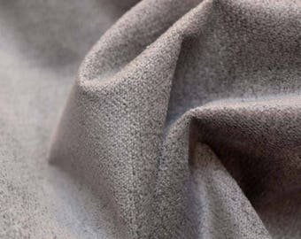 REMNANT Grey Chenille Upholstery Fabric 58 inches x 1.875 yards