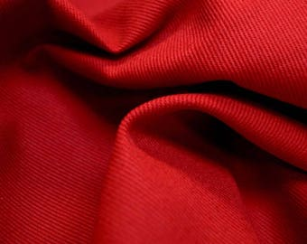 Ranger Cardinal Red Twill Fabric