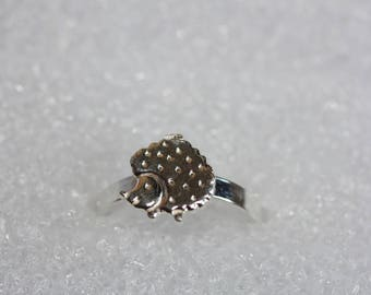 Sterling Silver Hedgehog Ring