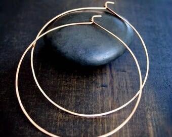 Thin Rose Gold Hoop Earrings - M, L, XL, Really Big