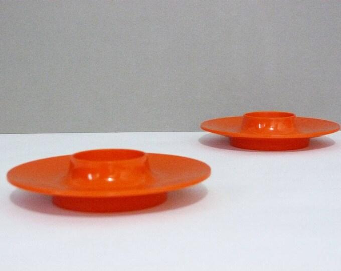 1970s vintage Danish Rosti mepal melamine flying saucer egg cups