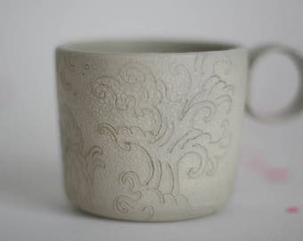Japanese waves tattoo mug - stoneware mug