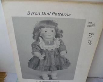 Sewing Pattern Doll Gift DIY, Pattern Gift Doll Clothes, Byron Jessica Doll Pattern, Doll Dress Pattern, DIY Doll Dress, 16 inch