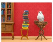 30% OFF SALE Harry Potter inspired Hedwig owl animal art print: Spellbound