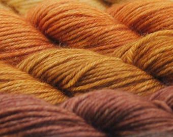 Mini Skein Ombre Gradient Yarn Choose Your Base -  GOLDILOCKS