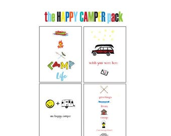 Cards for Kids Going to Camp -- Camp Note Cards