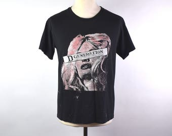 D Generation Band T-Shirt, Glam Punk Band D Generation, Size Medium, 50/50 Polyester/Cotton