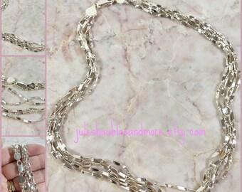 JCM Italy 925 Sterling Silver Multi Strand Necklace 5 Strand Italian Silver 16 Inch Necklace Twisted Super Sparkling Standout Fashion GiftIt