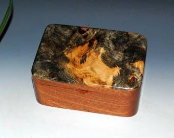 Small Wood Box With Tray - Buckeye Burl on Mahogany -Desk Box,Jewelry Box or Gift Box-Handmade Wooden Boxes by BurlWoodBox - Burl Wood Box