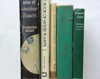Collection of Five Vintage Gardening Books