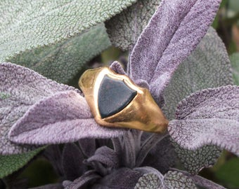 Vintage Bloodstone Signet Ring