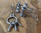 TN Paperclips Set of Three, Silver Tone Paperclip Charms, Travelers Notebook Paperclips, TN Journal Panner Page Markers