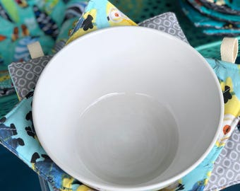 Minions Microwave Bowl Cozy Bowl Potholder Reversible : Made in Hawaii