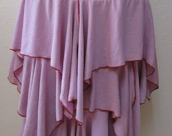Lavender color long skirt with 3 layers plus made in USA (v57)