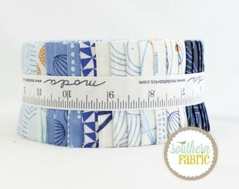 """True Blue - by Zen Chic for Moda - 40 - 44""""x2.5"""" Fabric Quilting Strips"""