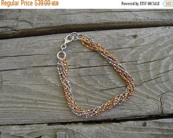 ON SALE Six row bracelet in sterling silver