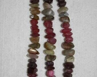 Sapphire, Umba Sapphire, Multicolor Nugget, Faceted Nugget, Gemstone, Semi Precious, Gemstone Nugget, Half Strand, 12-18mm, AdrianasBeads