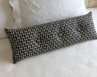 Juju Black 9x25 Bolster/lumbar pillow available in many of our fabrics