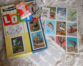 Wildlife Federation Lotto Bingo Animal Cards Vintage at Quilted Nest