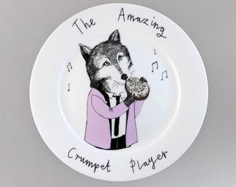 The Amazing Crumpet Player side plate