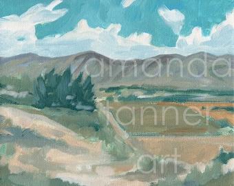 Landscape Painting Print Housewarming Gift Landscape Art Print Utah Painting Acrylic Painting Landscape Wall Art painting art