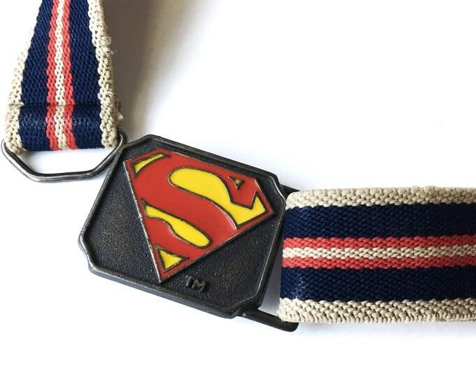 Vintage Superman Belt DC Comics 1944 Enamel Lee Buckle