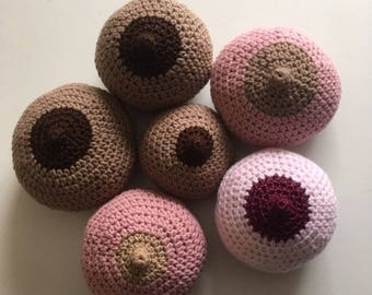 Small Sized Lactation Model / Breast / Crocheted