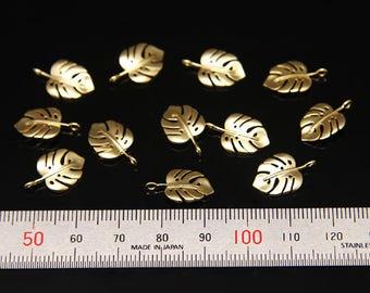 8pcs - plated matt gold(white) brass part findings